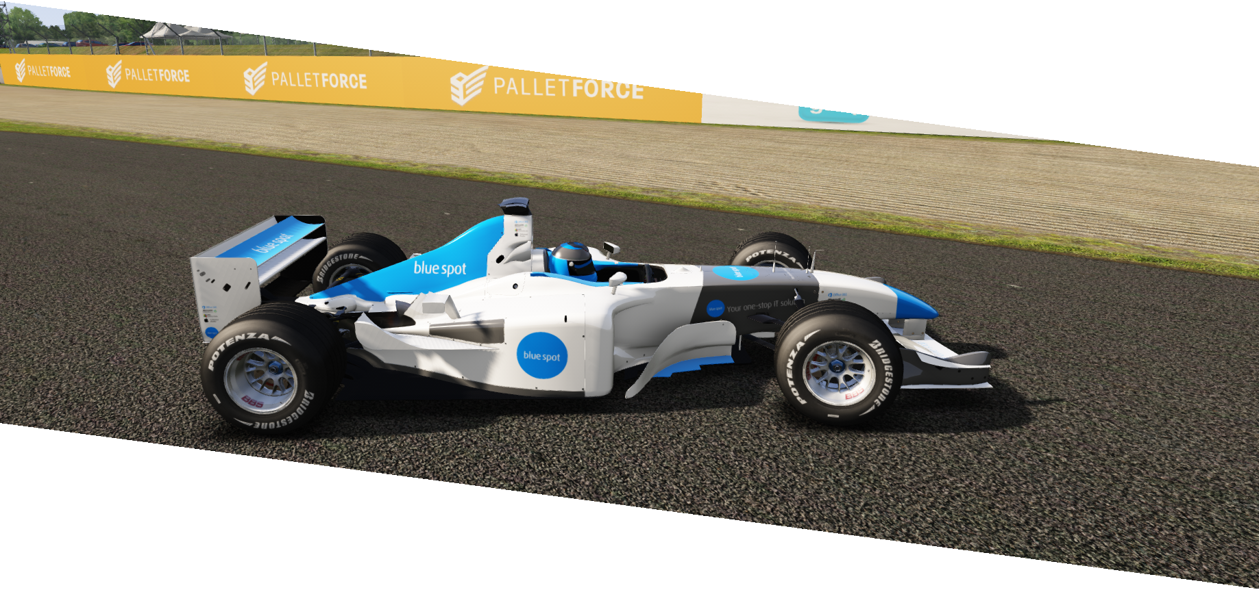 f1 car in game branding