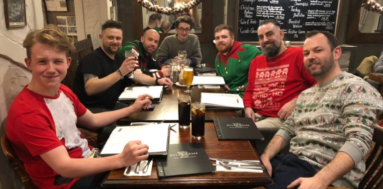 Team christmas meal 2017