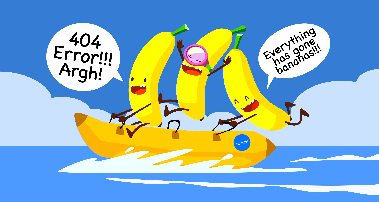 404 banana error page