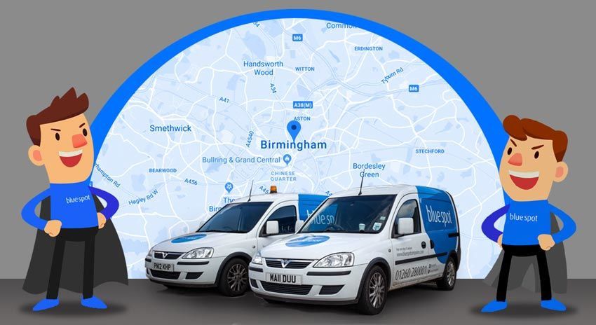 IT Support BIRMINGHAM - Map