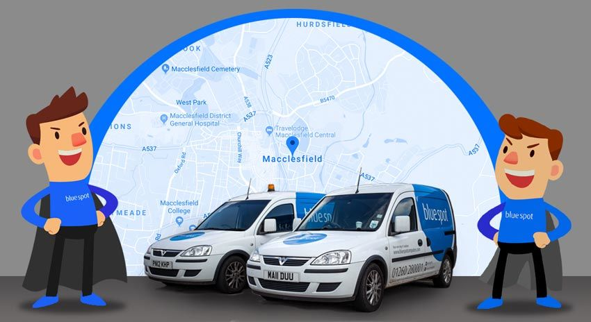 IT Support MACCLESFIELD - Map