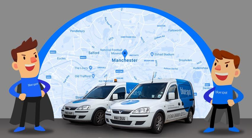 IT Support Manchester - Map